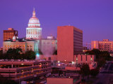 Sunrise and the Texas State Capitol Building in Austin, Austin, Texas