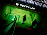 Passengers Entering Odenplan Metro Train Station, Stockholm, Sweden