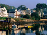 Houses along Boothbay Harbor, Boothbay, Maine