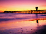 Seal Beach Pier at Sunset, California