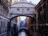 Ponte Dei Sospiri or The Bridge of Sighs, Venice, Italy
