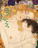 Mother and Child (detail from The Three Ages of Woman), c.1905 Art Print