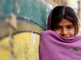 Girl Leaning Against Wall, Mandawa, Rajasthan, India