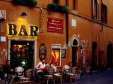 Outside Bar at Trastevere, Rome, Lazio, Italy