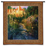 Garden Walk at Sunset Wall Tapestry