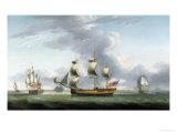 British Merchantman in Three Positions