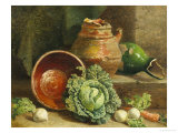 Still Life of Cabbages, Carrot and Turnips