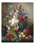 Rich Still Life of Lilac and Roses Giclee Print