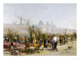 Flower Sellers on the Banks of the Seine