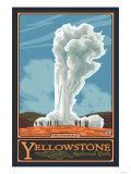 Old Faithful Geyser, Yellowstone National Park, Wyoming Art Print
