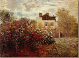 The Artist's Garden at Argenteuil Stretched Canvas Print
