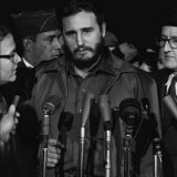 Fidel Castro arrives at MATS Terminal, Washington, D.C., c.1959