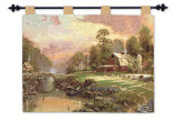 Sunset at Riverbend Farm Wall Tapestry