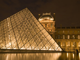The Louvre at Twilight, Paris, France