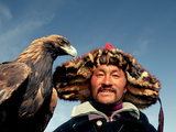 Takhuu Head Eagle Man, Altai Sum, Golden Eagle Festival, Mongolia Photographic Print
