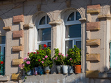 Windows and Flowers in Village, Cappadoccia, Turkey