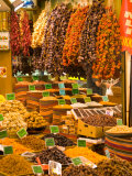 Dried Fruit and Spices for Sale, Spice Market, Istanbul, Turkey