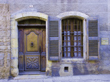 Stone Doorway with Wooden Door and Metal Knocker, Arles, France