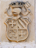 Medieval Coat of Arms, Chateau Carignan, Premieres Cotes De Bordeaux, France