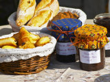 Wicker Basket with Croissants and Breads, Clos Des Iles, Le Brusc, Var, Cote d'Azur, France