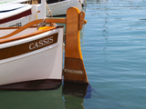 Traditional Boat with Wooden Rudder, Cassis, Cote d'Azur, Var, France