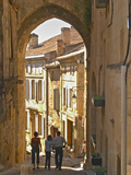 Street in Old Medieval Village of Saint Emilion, Bordeaux, France