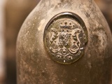 Antique Wine Bottle with Molded Seal, Chateau Belingard, Bergerac, Dordogne, France