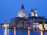 Buy Santa Maria della Salute Cathedral from Academia Bridge along the Grand Canal at Dusk, Venice at AllPosters.com