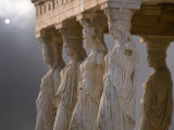 Sculptures of the Caryatid Maidens Support the Pediment of the Erecthion Temple