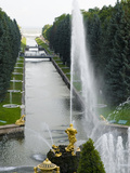 Samson Fountain at Peterhof, Royal Palace Founded by Tsar Peter the Great, St. Petersburg, Russia