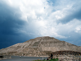 Great Pyramid of the Sun at Teotihuacan Aztec Ruins, Mexico