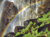 Rainbow at the Base of Bridal Veil Falls, Yosemite National Park, California, USA