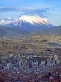 Aerial View of the Capital with Snow-Covered Mountain in Background, La Paz, Bolivia