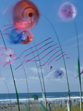 Kites Spinning, Washington State Kite Festival, Long Beach, Washington, USA