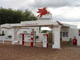 Vintage Mobil Gas Station, Ellensburg, Washington, USA