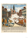 Paul Revere's Engraving of the Boston Massacre, 1770, an Event Leading to the Revolutionary War