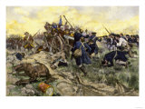 First Maryland Regiment Retaking British Field Artillery at Guilford Court House, North Carolina