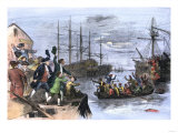 Colonials Destroy British Cargo of Tea in Boston Harbor, 1773, Known as the Boston Tea Party