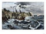 Wreck of Columbus's Flagship Santa Maria on the Coast of Hispaniola, c.1492