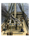 Trying Out - Boiling Whale Bubber for Oil on a Whaling Ship, c.1800