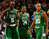 Kevin Garnett , Paul Pierce, and Ray Allen