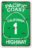 Pacific Coast Highway Tin Sign