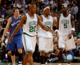 Ray Allen, Paul Pierce and Kevin Garnett