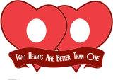 Two Hearts Cardboard Cutouts
