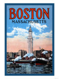 Boston Massachusetts Premium Poster