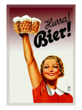 Harra! Bier! Premium Poster