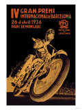 4th International Barcelona Grand Prix Premium Poster