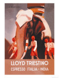 Buy Lloyd Triestino Espresso Itali India at AllPosters.com
