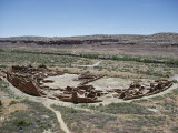 Pueblo Bonito from 1000-1100 AD, Anasazi Site, Chaco Canyon National Monument, New Mexico, USA