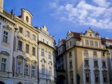 Building Facades in the Old Town Square, Prague, Unesco World Heritage Site, Czech Republic, Europe